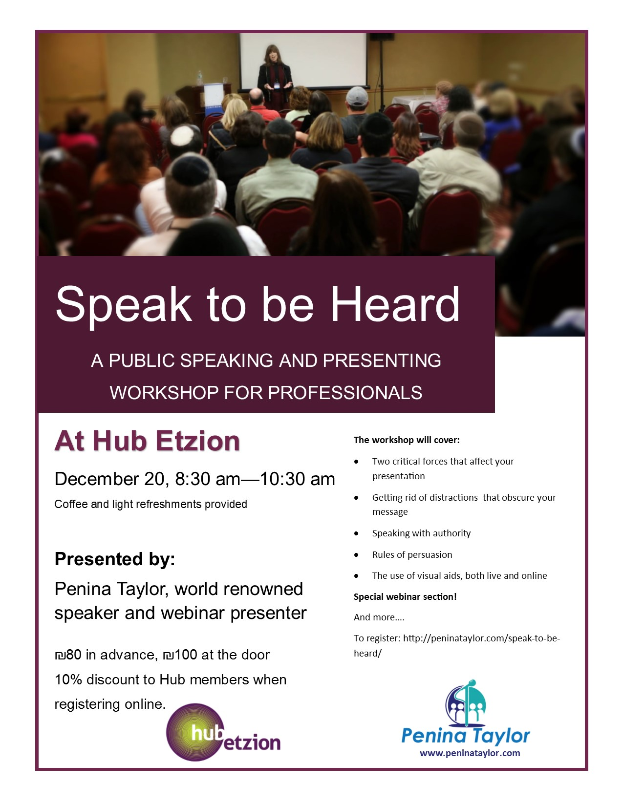 Speak and be heard flyer